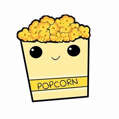 Popcorn Corn Clip Friday Drawings Flint Dessert