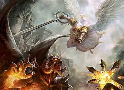 Fire Wings Devil Evil Demons Angels Fight