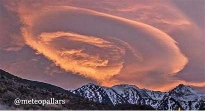 Lenticular Spain Cloud Looming Clouds Sunset Strange