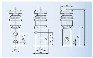 Plat Round Hand Operated Air Directional Control Valves