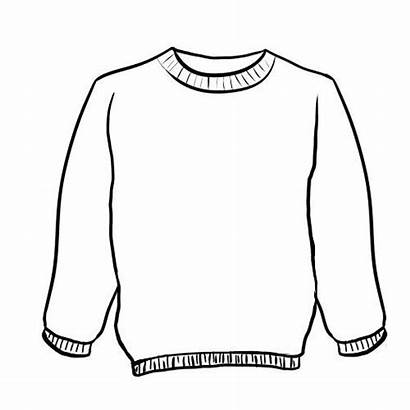 Sweater Coloring Ugly Jumper Template Templates Pullover