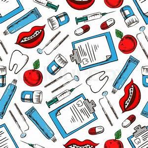 Dental medicine background for dentistry, dental treatment ...