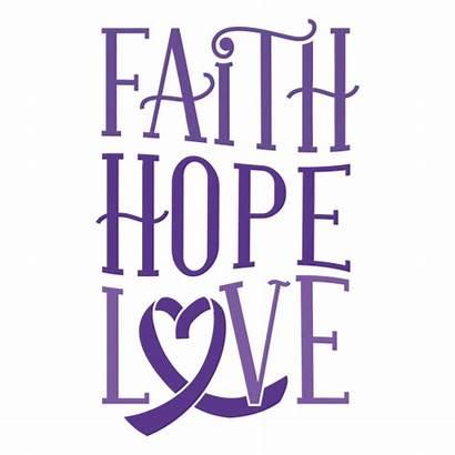 Faith Hope Heart Ribbon Svg Transparent Sticker