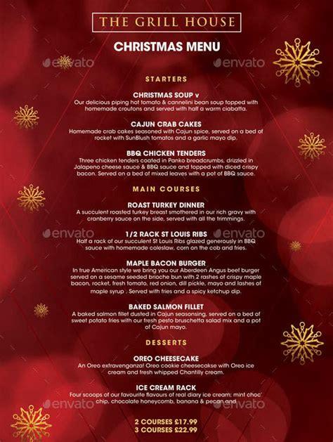 christmas menu template   psd eps ai