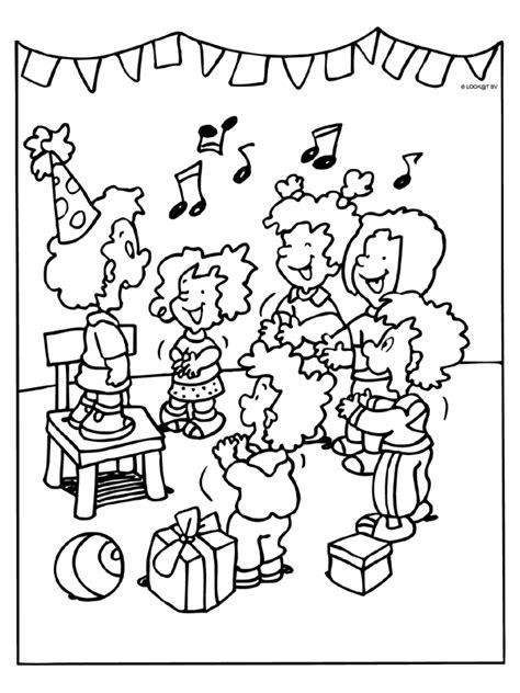 Zingen Kleurplaat by Kleurplaat Voor Verjaardag Juf Kleurplaat Feest Verjaardag