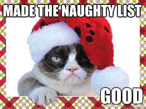Naughty Christmas Memes - a grumpy cat christmas introvert spring
