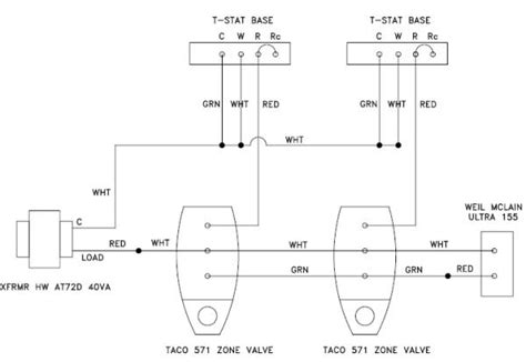 wiring configuration adding common  zone valves