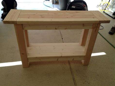 woodworking plans simple console table plans  plans