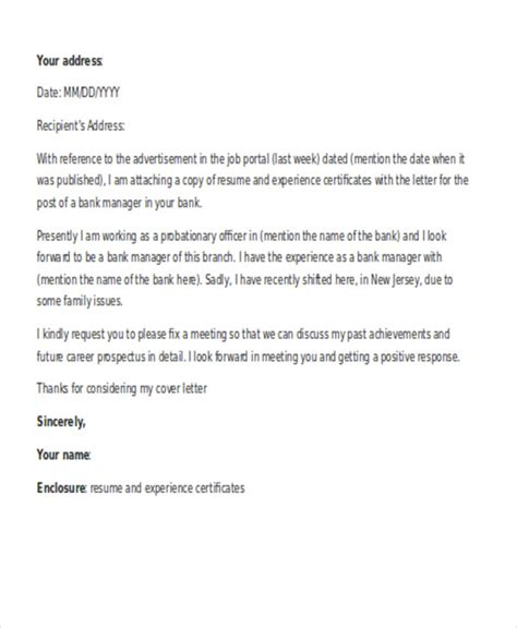 Cover Letter For It Manager Application 11 application letters for manager free word pdf