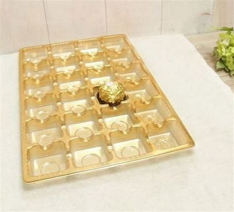 arrival chocolate packaging box plastic tray