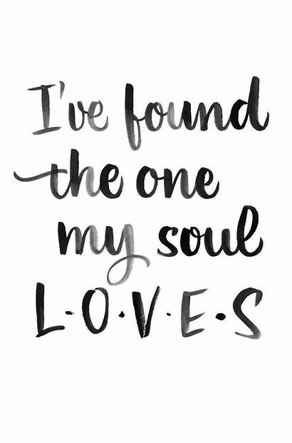 Calligraphy Quotes Quote Soul Found Loves Words