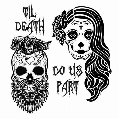 Skull Svg Sugar Dead Skulls Death Couple