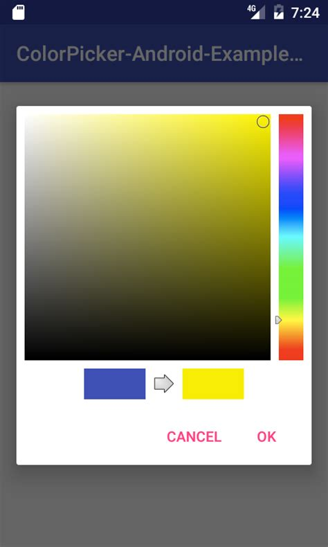 android create color picker dialog  tutorial