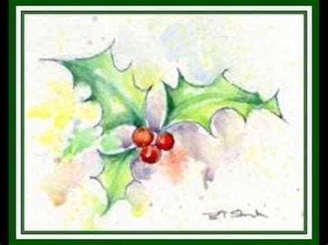 youtube watercolor christmas cards tutorials a professional basic watercolour pen tutorial lesson 3