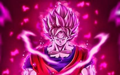 Goku Purple 4k Fire Flames Son Saiyan