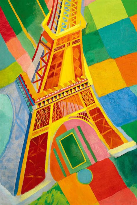 eiffel tower canvas art print  robert delaunay