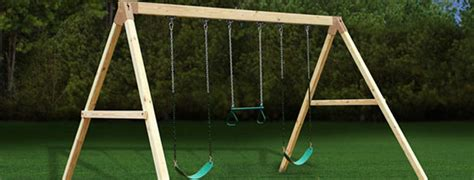 wooden swing set plans   build