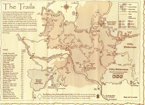 map  red river gorge