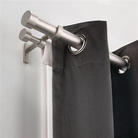ikea double curtain rod home design ideas