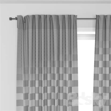Ikea Aina Curtains Discontinued by 3d Models Curtain Ikea Aina Curtains
