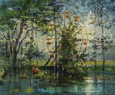 beautiful whimsical paintings  eric roux fontaine