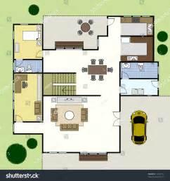 floor plan builder ground floor plan floorplan house home stock vector 74222734