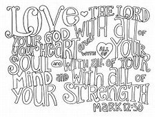 HD Wallpapers Coloring Pages Love God All Your Heart