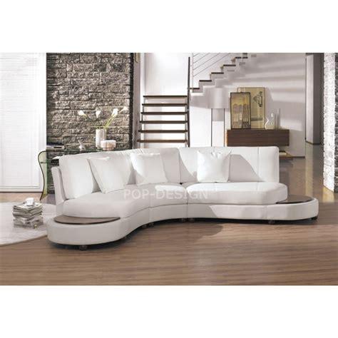 canapé cuir relax 2 places canapé design demi lune en cuir foggia pop design fr