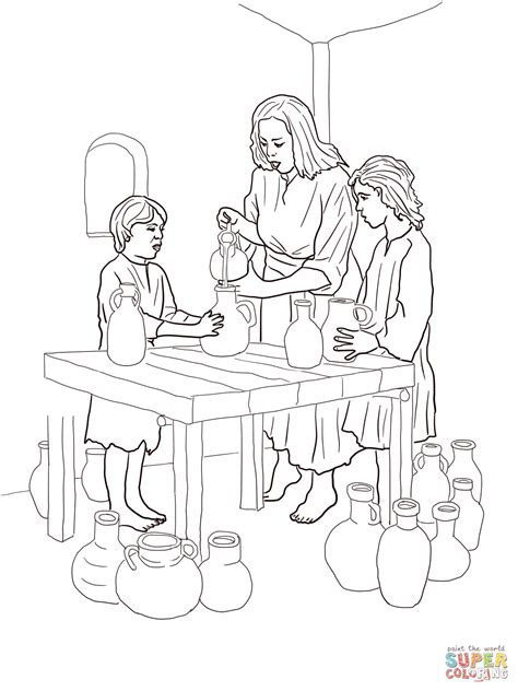 elisha helps widow coloring pagejpg  pixels