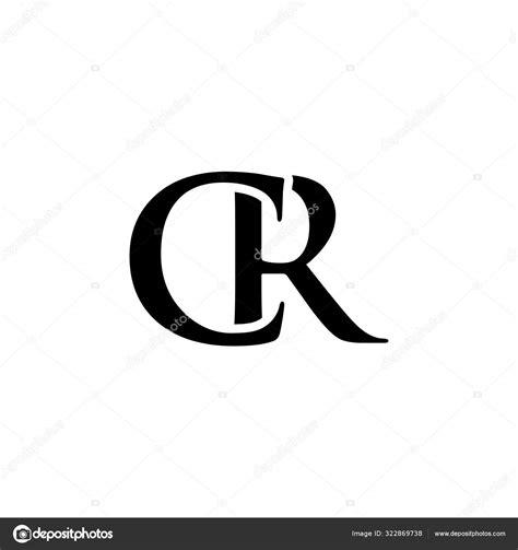 Initial cr alphabet logo design template vector — Stock ...