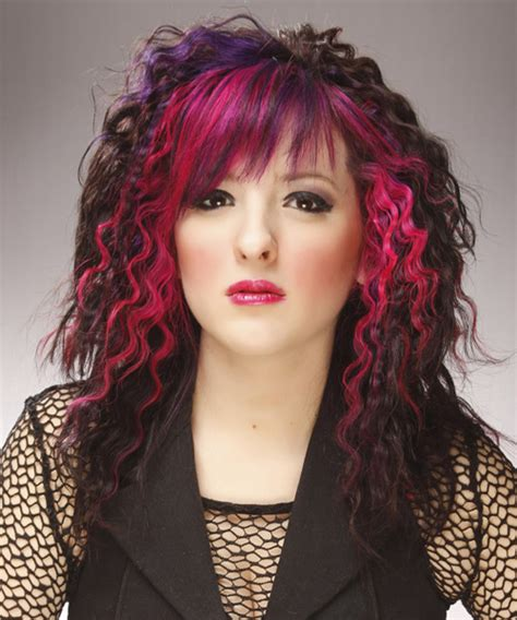 Alternative Hairstyles For by Curly And Pink Two Tone Hairstyle