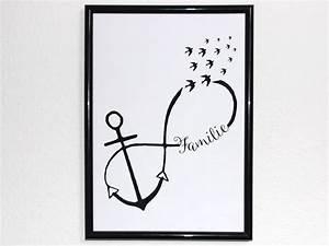 Tattoo Ideen Familie : originaldruck kunstdruck anker familie unendlichkeit liebe ein designerst ck von ediths art ~ Frokenaadalensverden.com Haus und Dekorationen