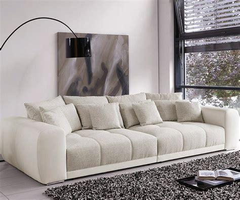 big sofa valeska  cm grau cremeweiss beige