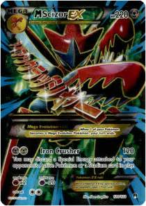 Pokemon X & Y BREAKpoint Ultra Rare Holo Full Art Mega Scizor-EX #120