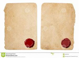 old parchment letter set with red wax seal stock photo With letter parchment