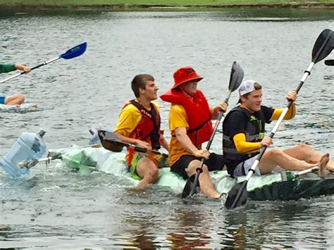 Race Junk Boats by Medina High School Students Recycle Junk Boat Float For