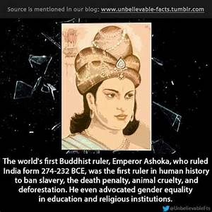 Emperor Ashoka, the greatest Emperor from 269-232 BCE ...
