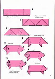 Free Coloring Pages  Very Simple Pig Origami Instructions
