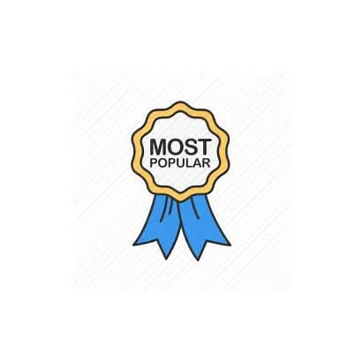 Icon Seller Popular Ribbon Favorite Gold Icons