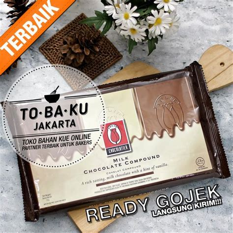 jual coklat tulip batang milk chocolate compound cokelat