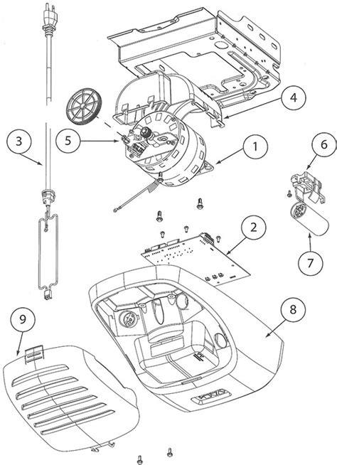 Genie Garage Door Opener Parts Diagram