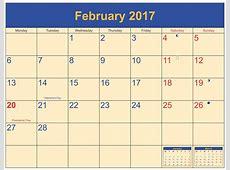 February 2017 Moon Phase Calendar Moon Schedule Free