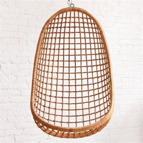 rohe noordwolde hanging rattan egg chair at 1stdibs