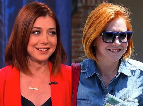 alyson hannigan hair color alyson hannigan from changing hair color e