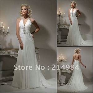 elegantfree shipping sexy deep v neckline halter backless With backless corset wedding dresses