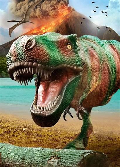 Poster Dinosaurus Volcano Dinosaur Dinosaurier Battle Europosters