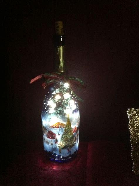christmas lights in a wine bottle wine bottles pinterest