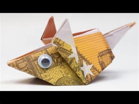 geldgeschenk idee maus falten origami anleitung youtube geldgeschenke pinterest