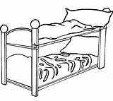 Bed Coloring Pages Clipart Bunk Drawing Colouring Frame Bun Clip Furniture Clipartmag Transparent sketch template