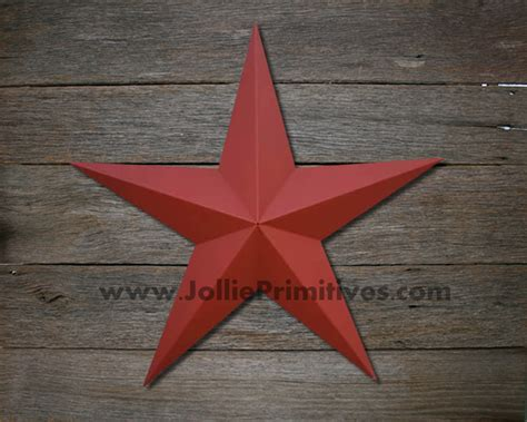 24 Inch Metal Stars Painted, Heavy Duty, Galvanized Amish